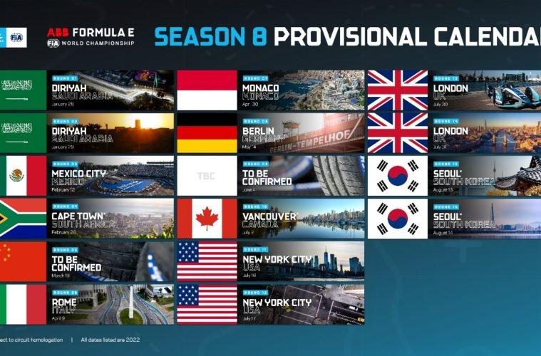 Formule E Calendrier 2022 La Formule E dévoile un calendrier 2022 sans Paris   Sport.fr Pro